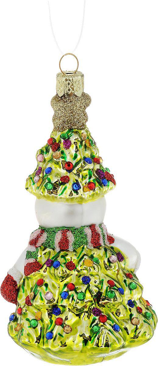 {}  Шар Снеговик (11 см) украшение для интерьера сверкающий шар