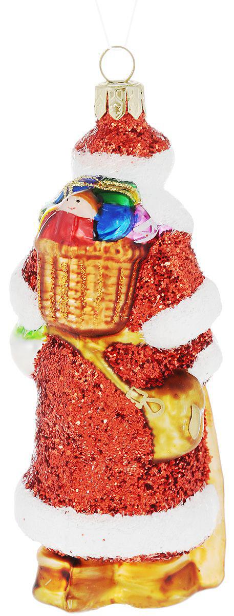 {}  Шар Дед Мороз (11 см) украшение для интерьера сверкающий шар