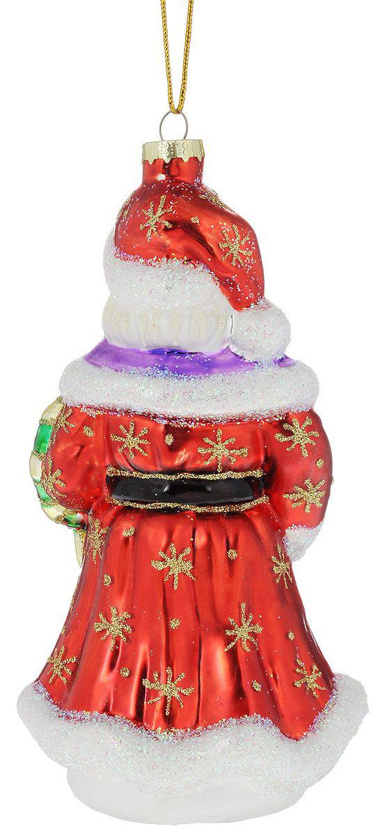 {}  Шар Дед Мороз с Подарками (8х19 см) украшение новогоднее magic time дед мороз и медвежонок со светодиодной подсветкой 12 x 8 x 3 см