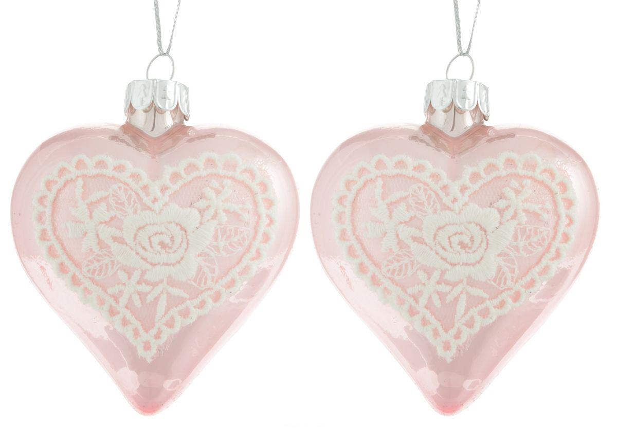 {} Набор шаров Сердце (7 см - 2 шт) набор розеток с ложками из 2 шт 7 7 3 см