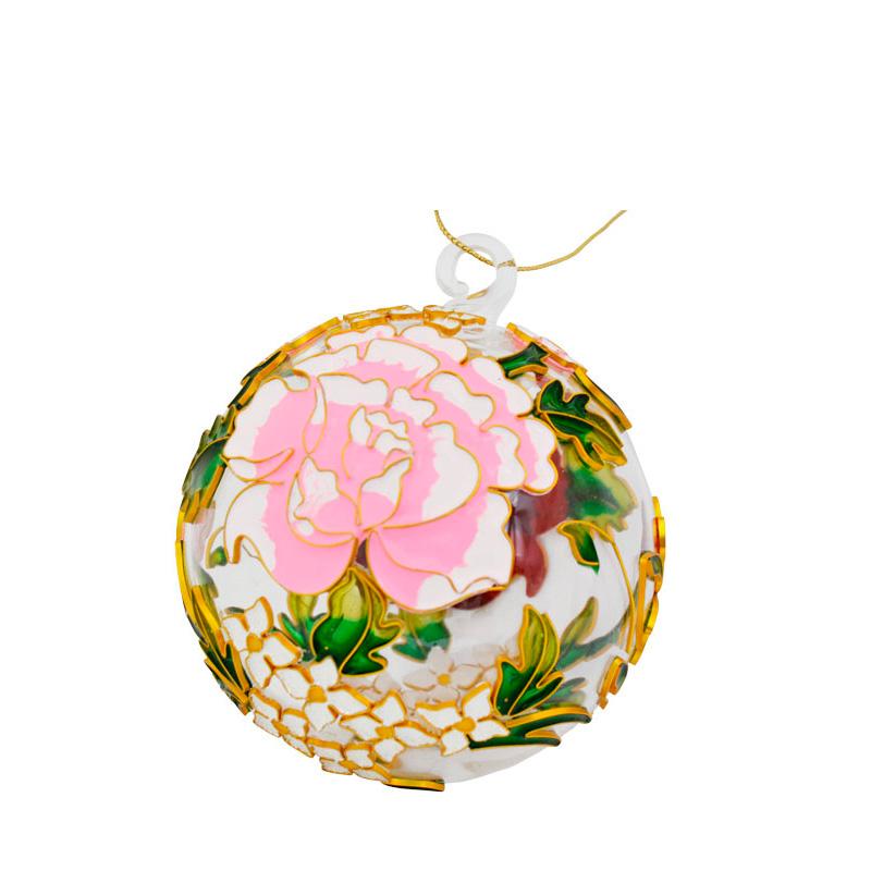 {}  Шар Цветы (7 см) украшение для интерьера сверкающий шар