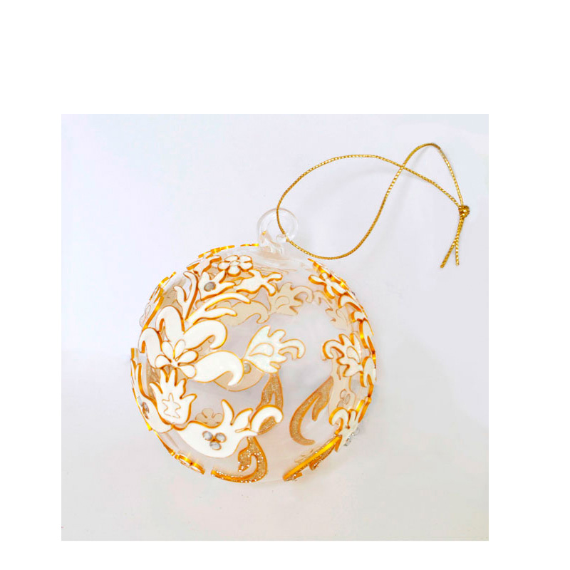 {}  Шар Ажур (7 см) украшение для интерьера сверкающий шар