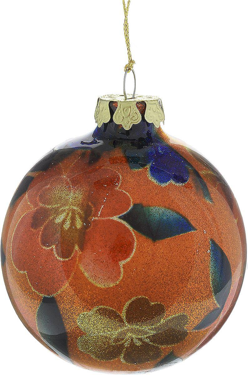 {}  Шар Яркие Цветы (8 см) украшение для интерьера сверкающий шар