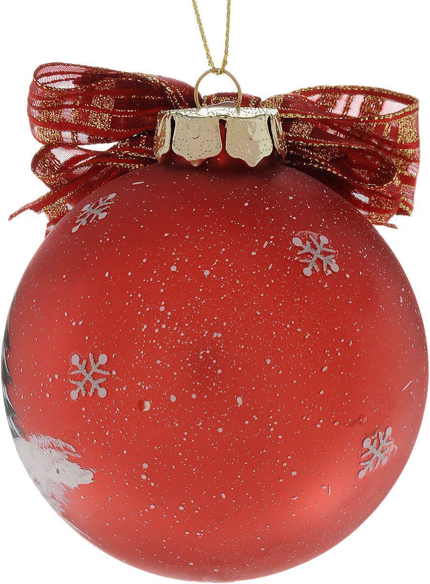 {}  Шар Веселый Снеговик (8 см) украшение для интерьера сверкающий шар