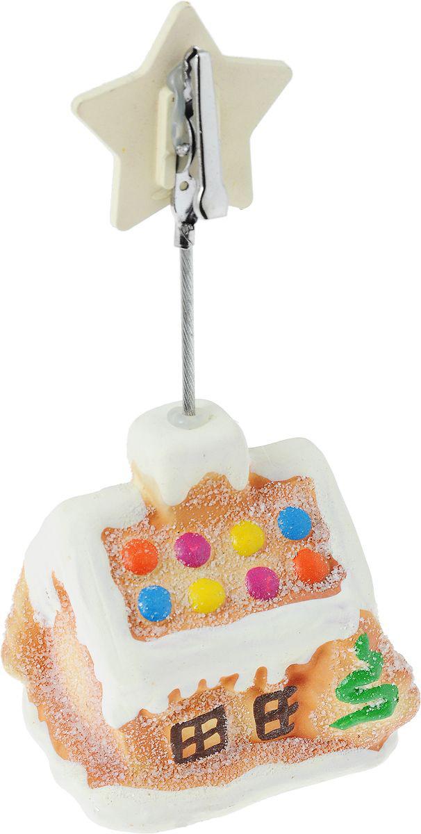 {}  Держатель для визиток Пряничный Домик (5х13 см) держатель для туалетной бумаги wonder worker hold цвет серый металлик 15 5 x 13 5 x 5 4 см