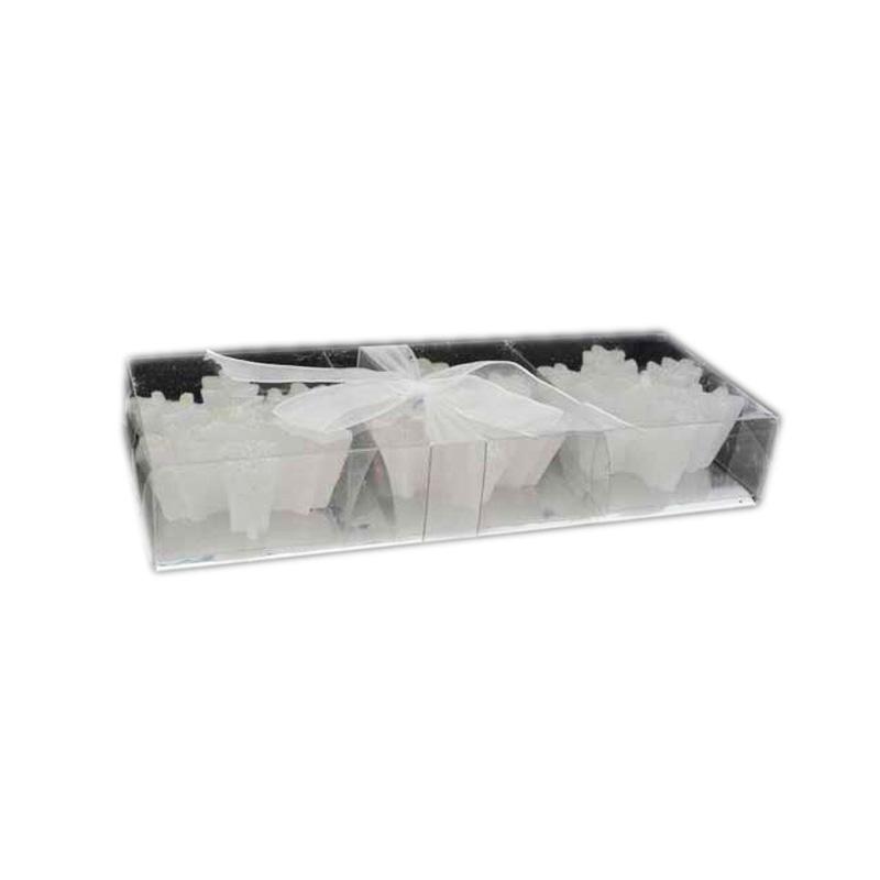 {} Набор свечей Снежинки (7х2 см - 3 шт) набор розеток с ложками из 2 шт 7 7 3 см