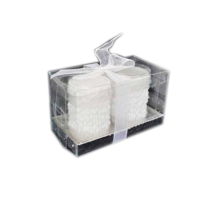 {} Набор свечей Снежные (7х5 см - 2 шт) набор розеток с ложками из 2 шт 7 7 3 см