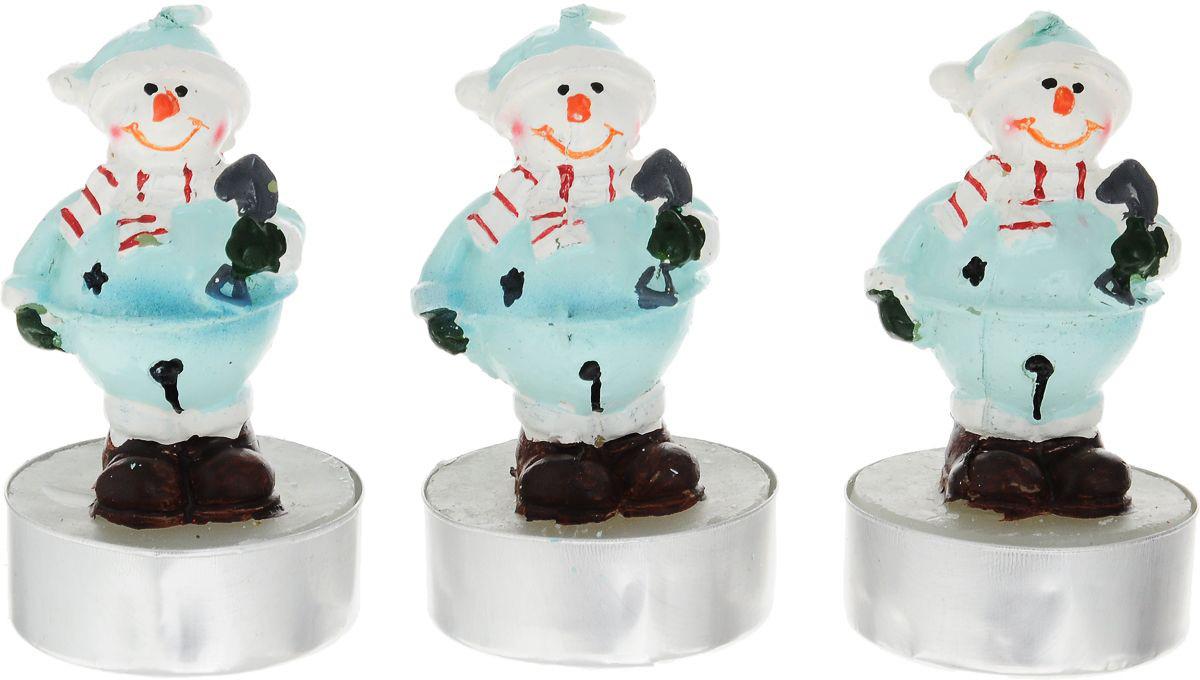 {}  Набор свечей Снеговик (14х5х7 см - 3 шт) сноубол снеговик с фонарем 7 5 7 5 8 4см 38357