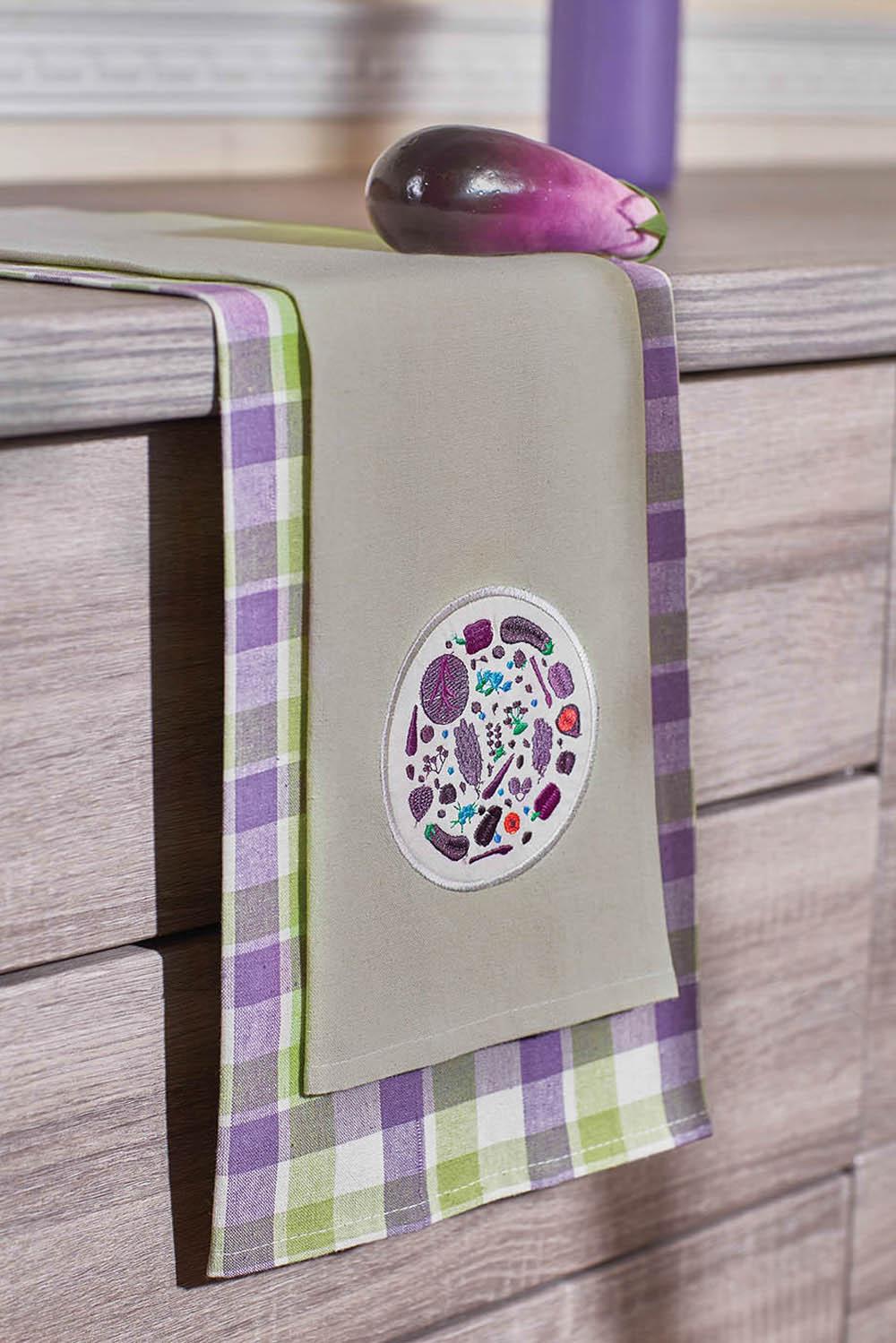 {} Primavelle Кухонное полотенце Floressa Цвет: Фиолетовый (40х60 см - 2 шт) bon appetit кухонное полотенце cake цвет голубой 40х60 см 2 шт