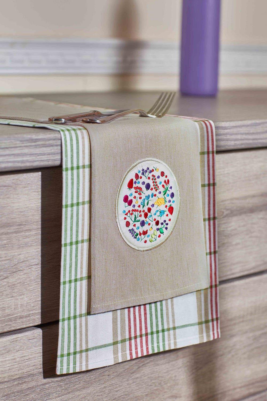 {} Primavelle Кухонное полотенце Floressa Цвет: Зеленый (40х60 см - 2 шт) полотенце кухонное soavita цвет светло зеленый 40 х 60 см 48803