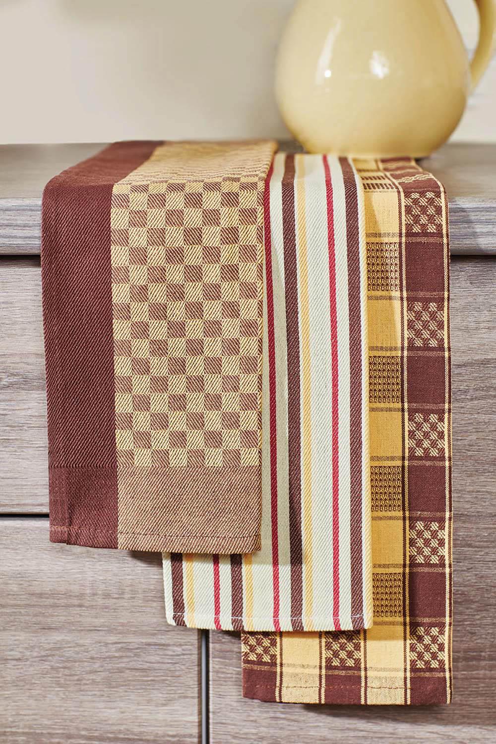 {} Primavelle Кухонное полотенце Jaycee Цвет: Коричневый (40х60 см - 3 шт) цена и фото