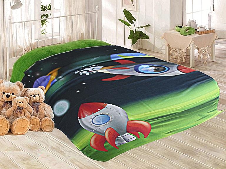 Детские покрывала, подушки, одеяла Elegante Детский плед Космос (150х200 см)