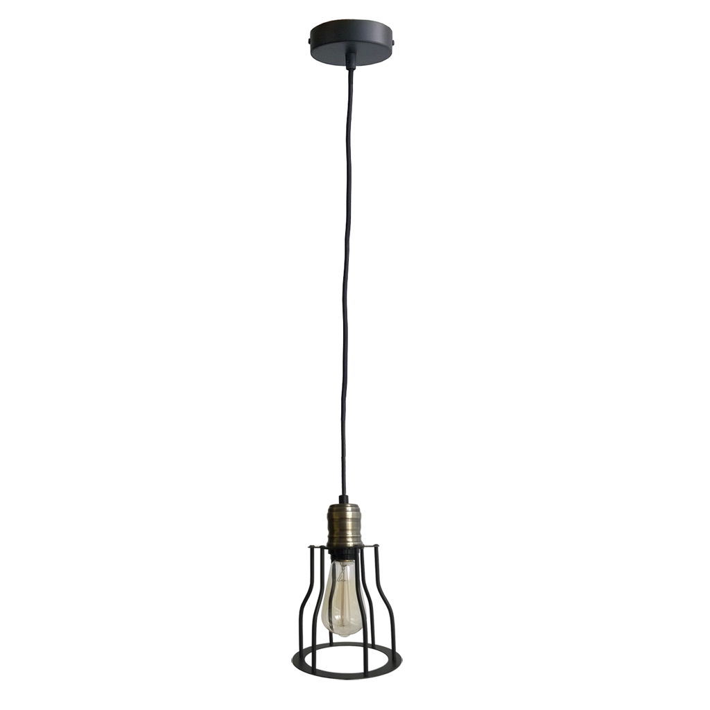 {} ARTEVALUCE Светильник подвесной Cage Filament (15х24 см) дизайнерский подвесной светильник cage filament
