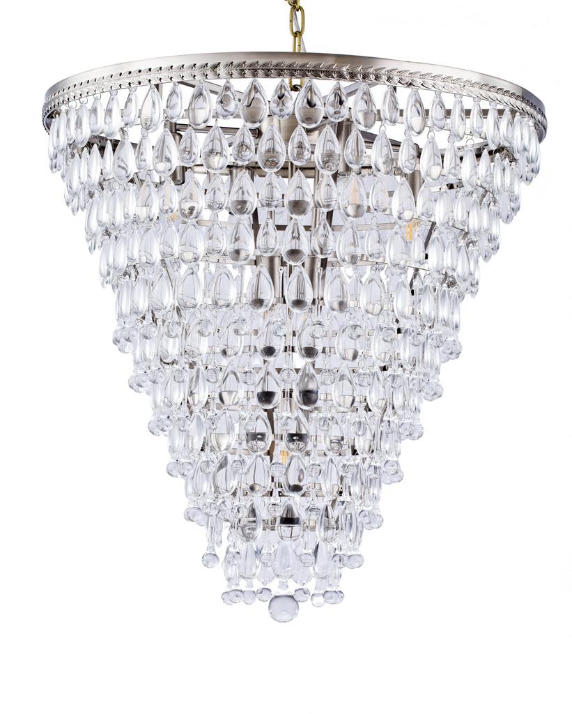 {} CRYSTAL LIGHT Подвесной светильник Estepona Цвет: Серебряный (61х65 см) crystal light светильник подвесной moooi dandelion цвет серебряный 80х200 см