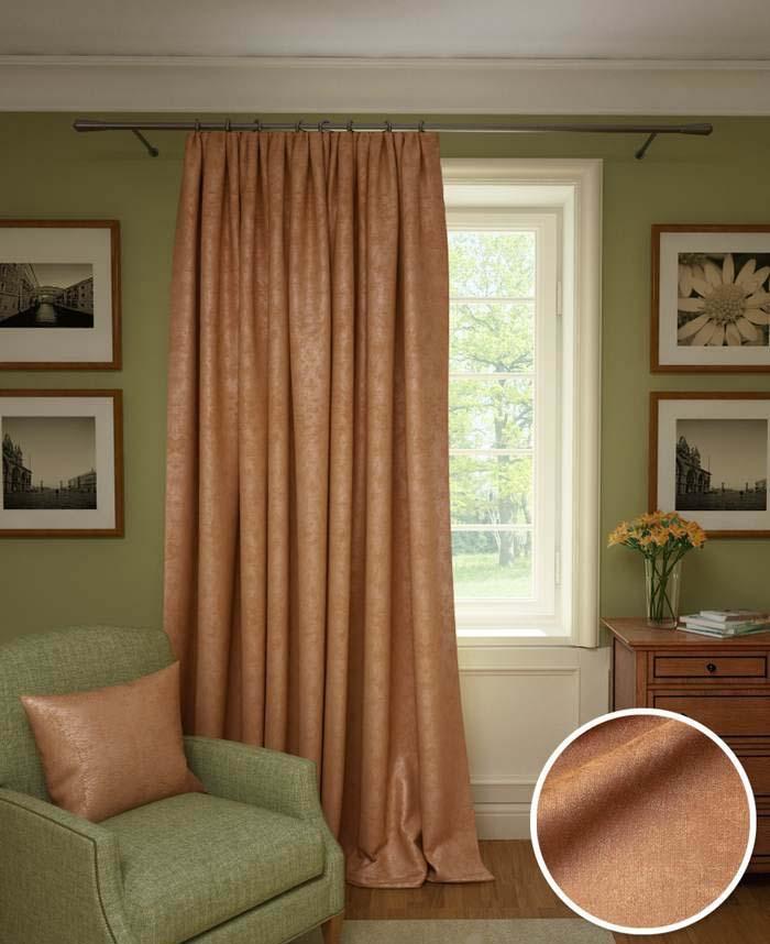 Шторы Kauffort Классические шторы Galilee Цвет: Темно-Оранжевый шторы kauffort классические шторы barolo
