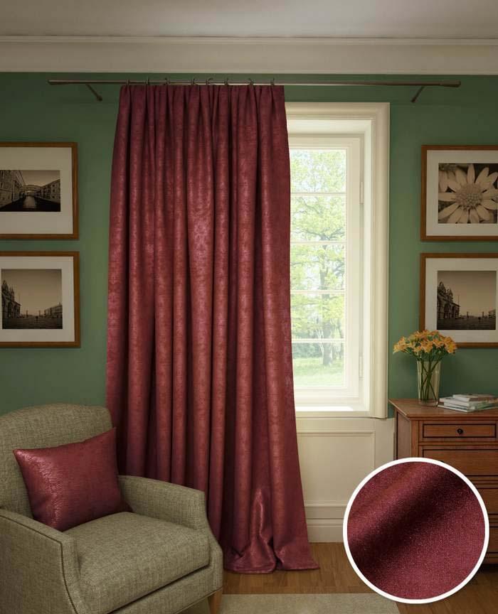 Шторы Kauffort Классические шторы Galilee Цвет: Красный Рубин шторы kauffort классические шторы kimberly s цвет красный