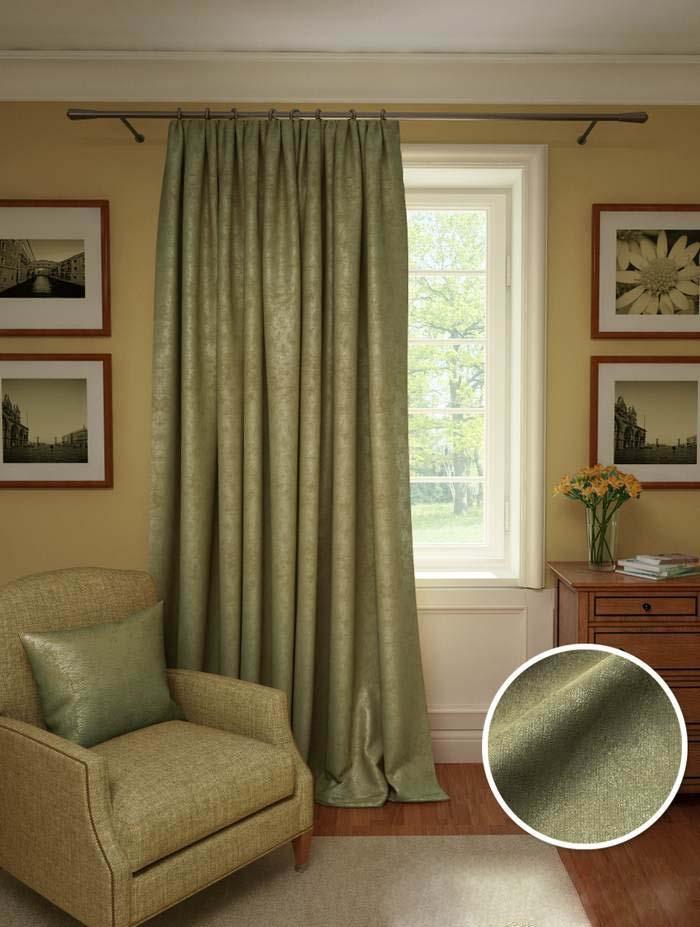 Шторы Kauffort Классические шторы Galilee Цвет: Оливковый шторы интерьерные kauffort штора provence k на тесьме 136х175