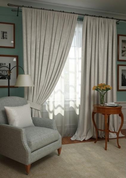 Шторы Kauffort Классические шторы Ellery Цвет: Белый шторы primavera классические шторы maev цвет персиковый