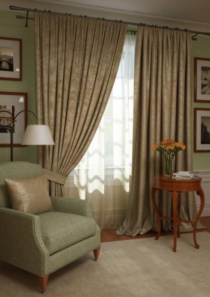 Шторы Kauffort Классические шторы Ellery Цвет: Кофейный шторы tac классические шторы winx цвет персиковый 200x265 см