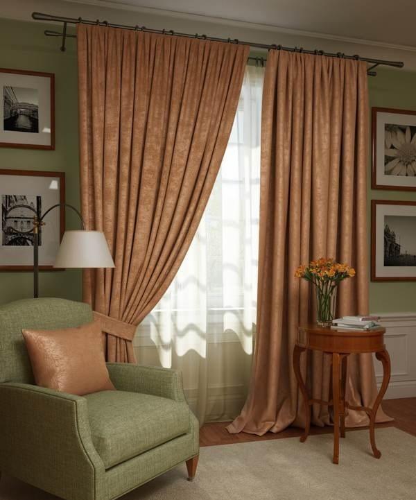 Шторы Kauffort Классические шторы Ellery Цвет: Темно-Оранжевый шторы kauffort классические шторы barolo