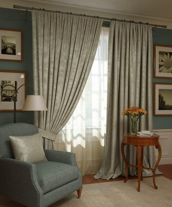 Шторы Kauffort Классические шторы Ellery Цвет: Серый шторы kauffort классические шторы barolo