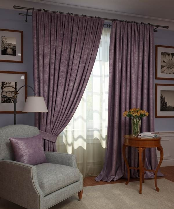 Шторы Kauffort Классические шторы Ellery Цвет: Фиолетовый шторы kauffort классические шторы montana xl цвет фиолетовый желтый