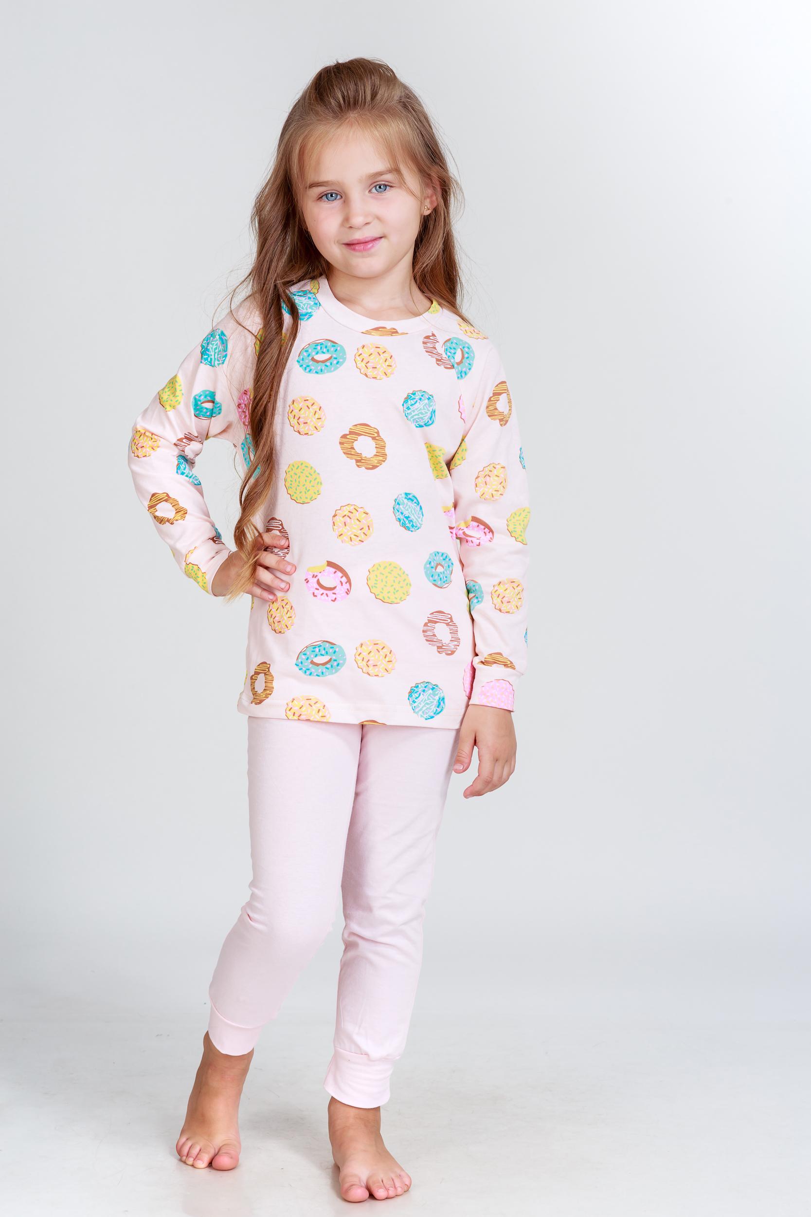 Детские пижамы Pastilla Детская пижама Лакомка Цвет: Пудровый (7-8 лет) детские пижамы pastilla детская пижама лакомка 2 цвет пудровый 7 лет