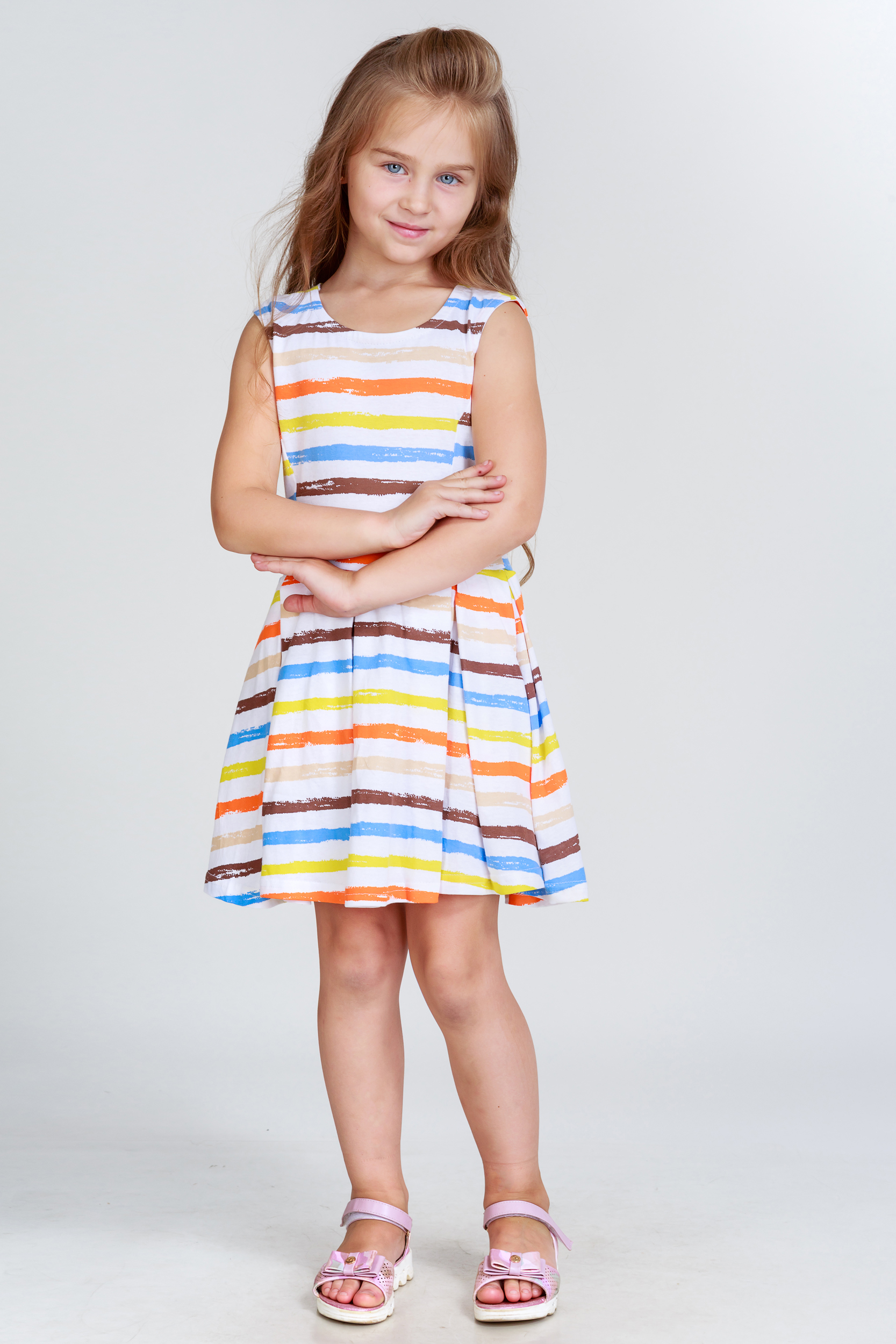 Детские туники, сарафаны Pastilla Платье Васильки (6-7 лет) купить часы мальчику 7 лет