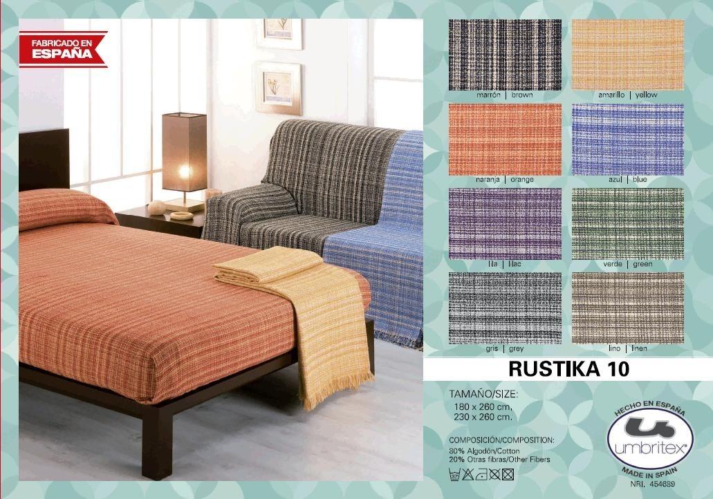 все цены на Покрывало Umbritex Покрывало Rustica10 Цвет: Оранжевый (230х260 см) онлайн