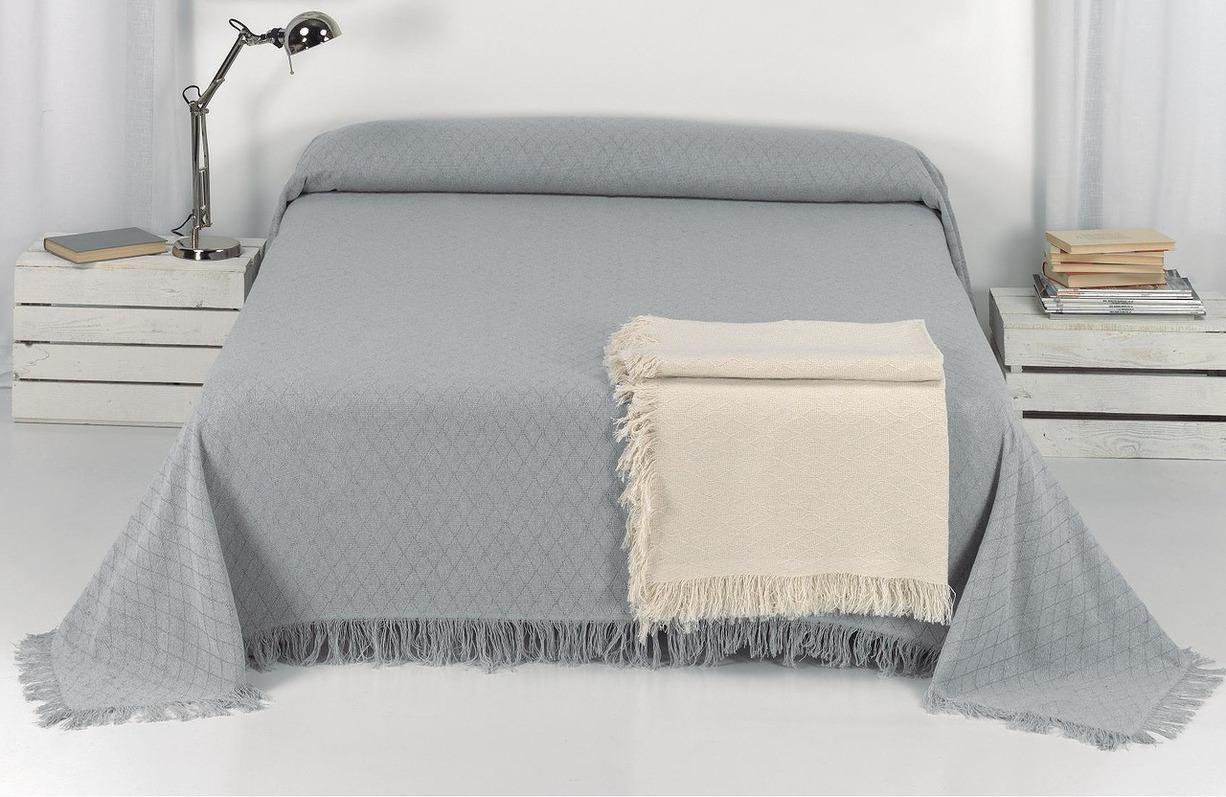 все цены на Покрывало Umbritex Покрывало Rustica1 Цвет: Серый (230х260 см) онлайн