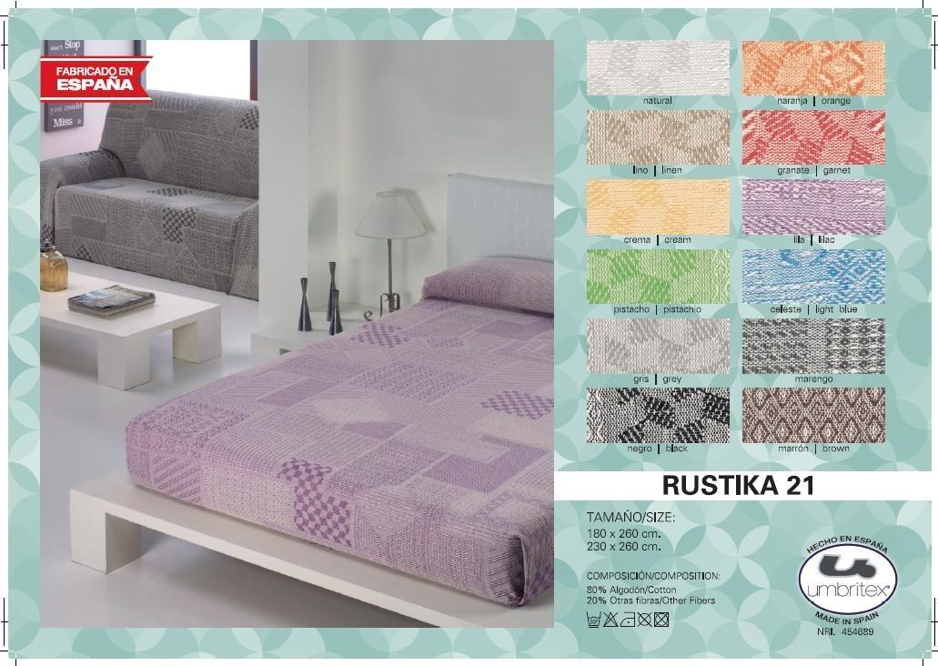 все цены на Покрывало Umbritex Покрывало Rustika21 Цвет: Гранатовый (230х260 см) онлайн