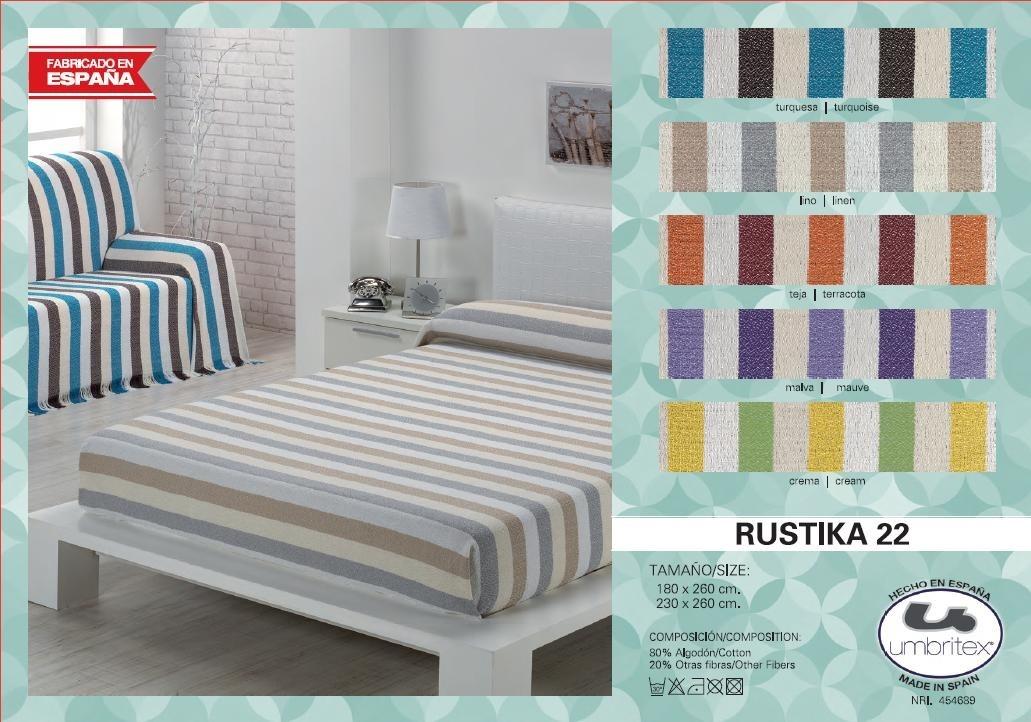 где купить Покрывало Umbritex Покрывало Rustika22 Цвет: Бирюзовый (180х260 см) по лучшей цене