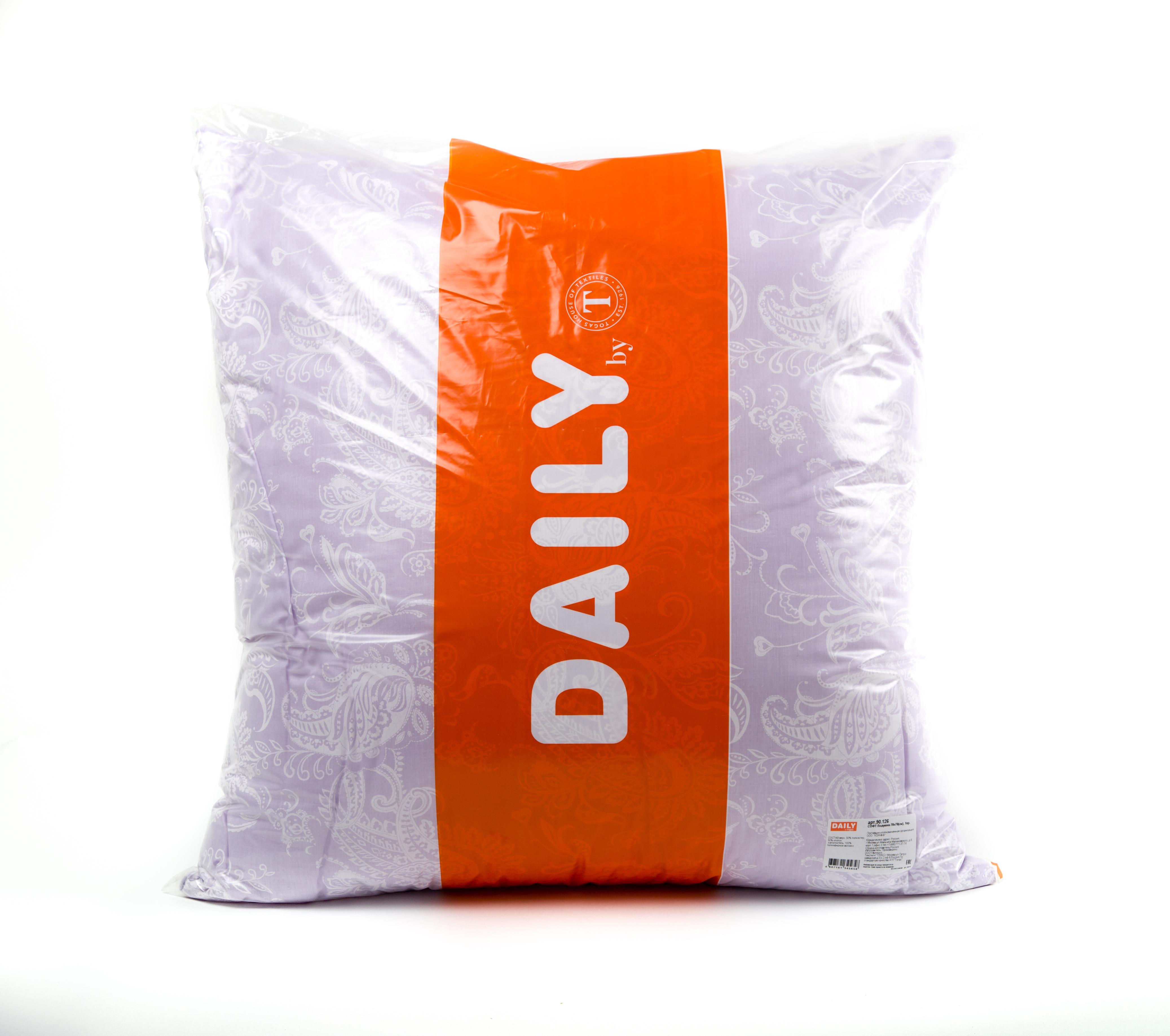 Подушки DAILY by T Подушка Софт (70х70) подушка wendre tencel comfort 70х70 тэнсель 30% полиэстер 70%