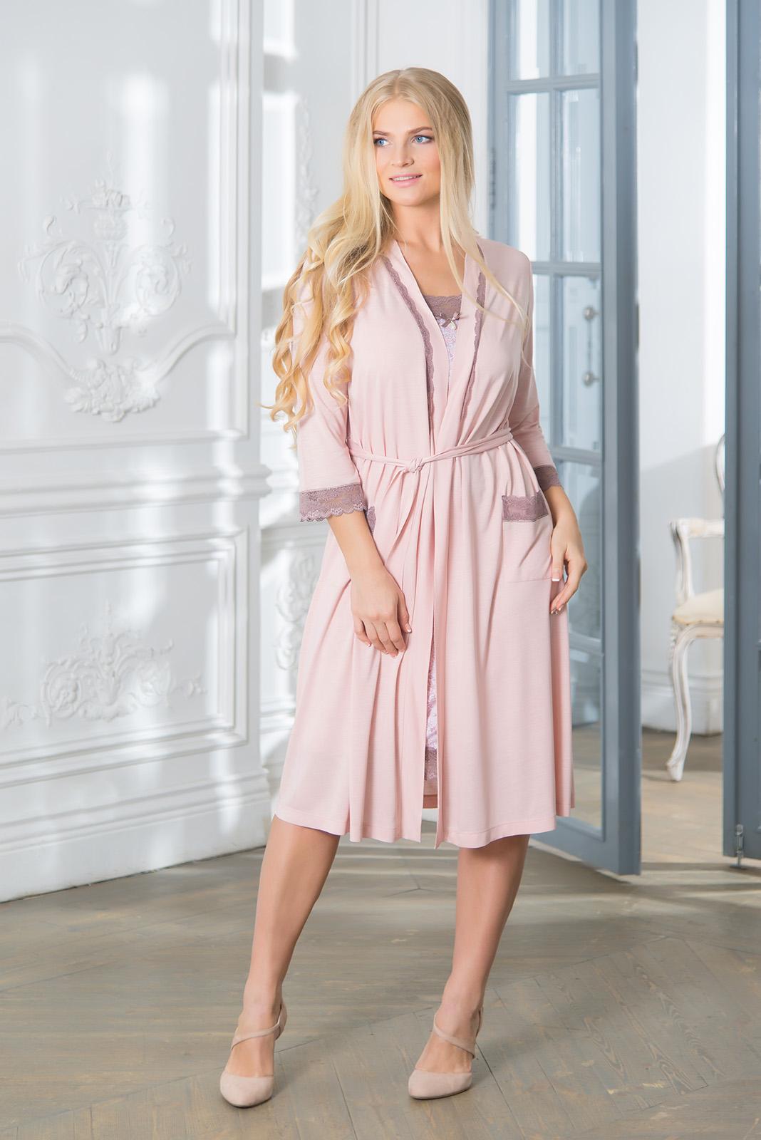 Домашние халаты Mia Cara Домашний халат Caprina Цвет: Розовый (xxxL) пижамы mia cara пижама paisley цвет розовый m l
