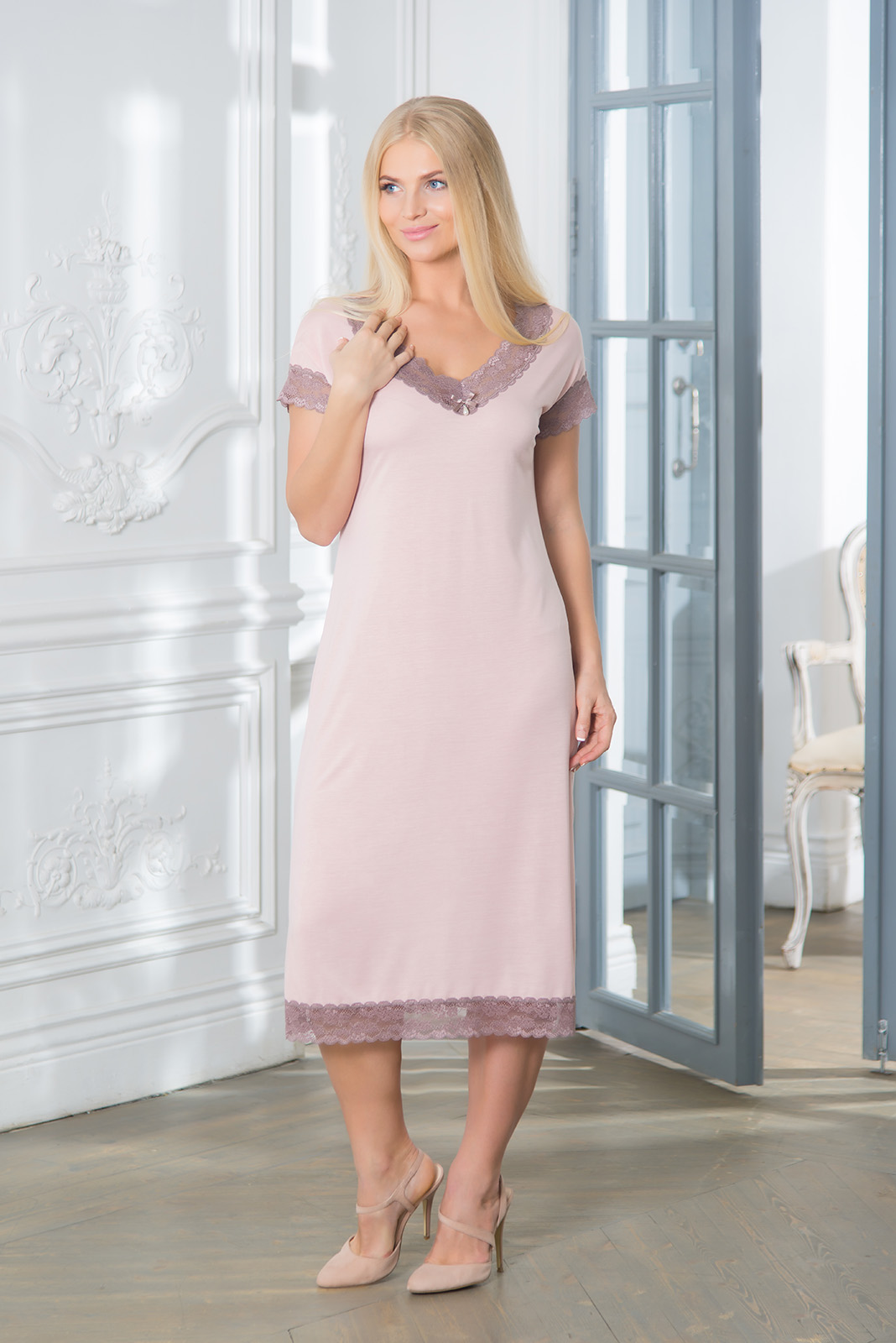 Ночные сорочки Mia Cara Ночная сорочка Meryle Цвет: Розовый (S) пижамы mia cara пижама paisley цвет розовый m l