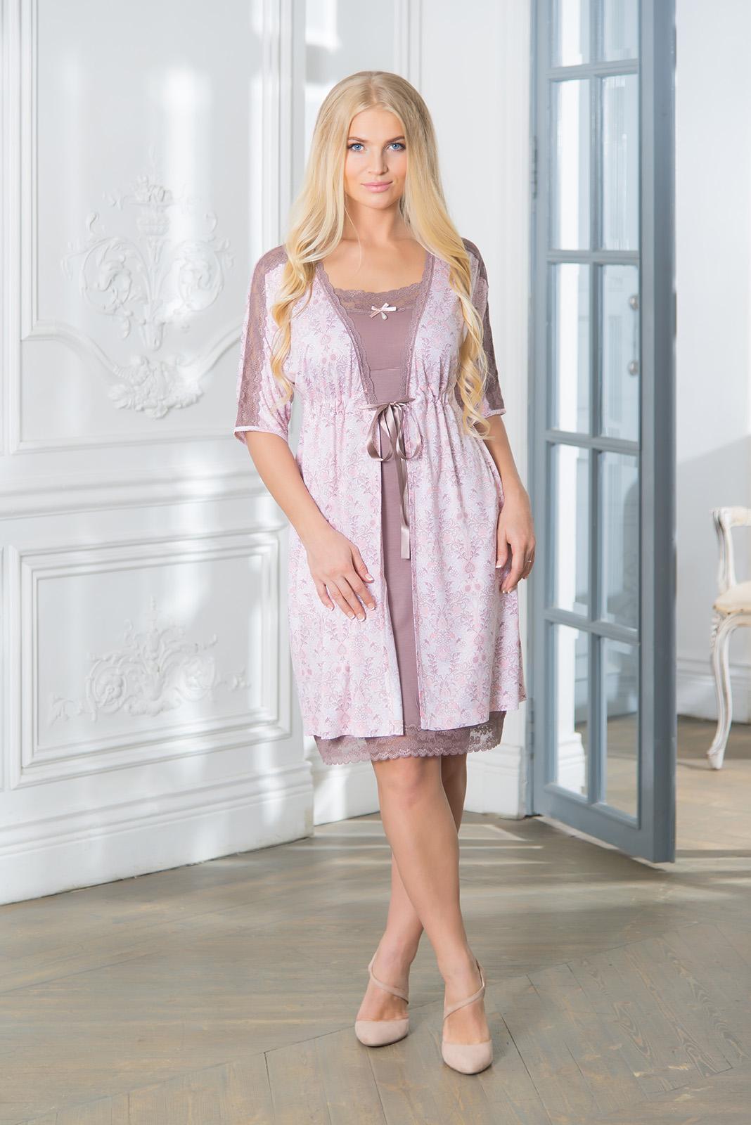 Домашние халаты Mia Cara Домашний халат Clancey (xxL) пижама женская футболка шорты mia cara portugal цвет розовый голубой aw16 mc 813 размер 50 52