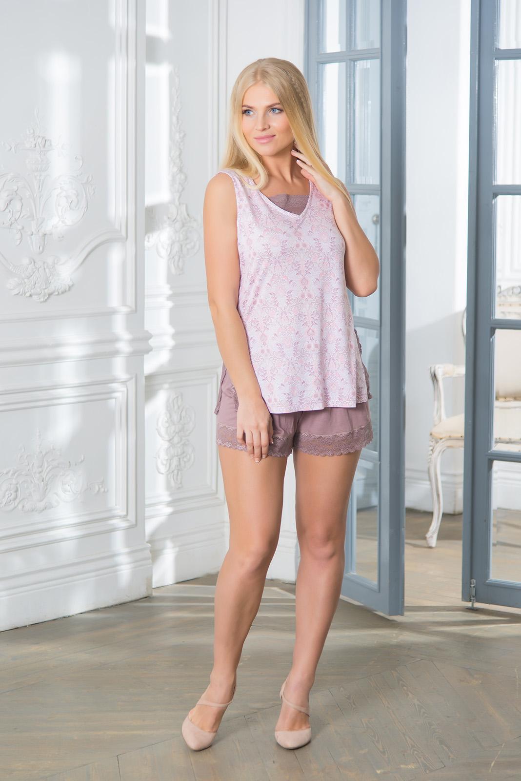 Пижамы Mia Cara Пижама Paulina Цвет: Сиреневый (M-L) пижамы mia cara пижама paisley цвет розовый m l