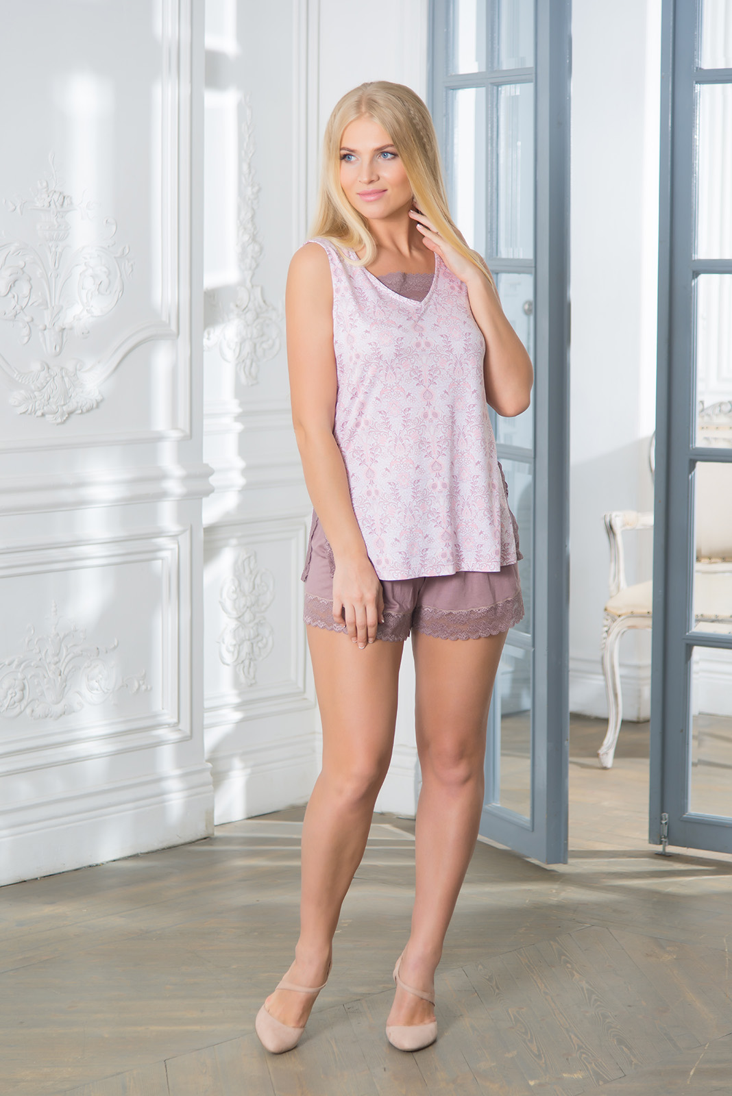 Пижамы Mia Cara Пижама Paulina Цвет: Сиреневый (xxL) пижамы mia cara пижама paisley цвет розовый m l
