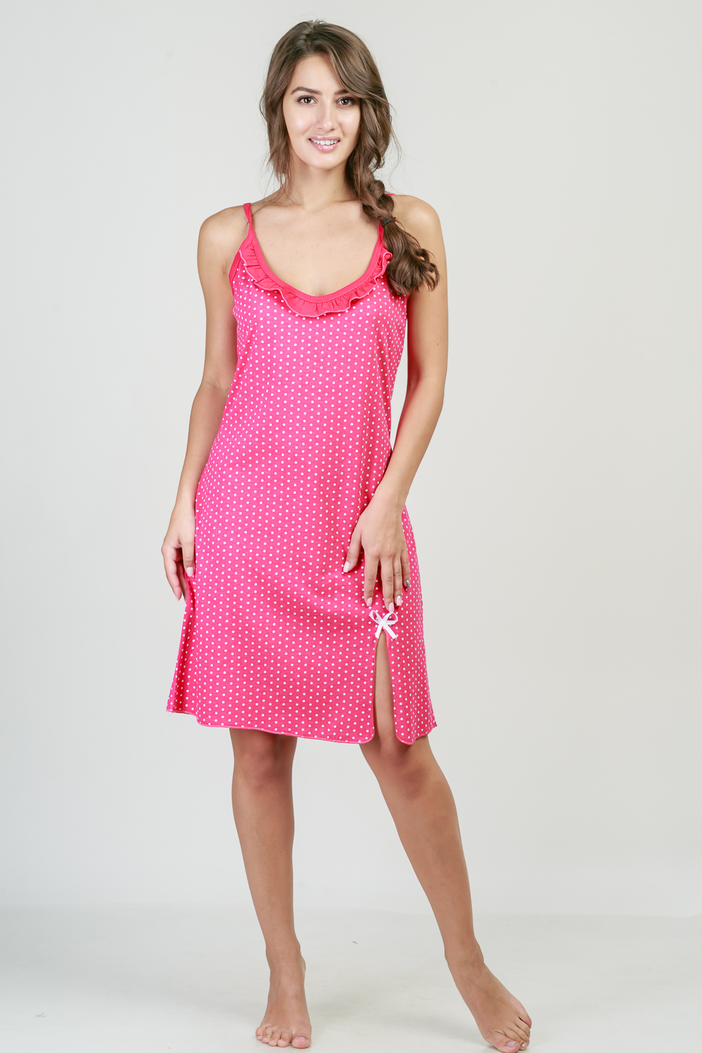 Ночные сорочки Pastilla Ночная сорочка Афродита Цвет: Малиновый (xxL) ночные сорочки pastilla ночная сорочка афродита цвет малиновый xl xxl