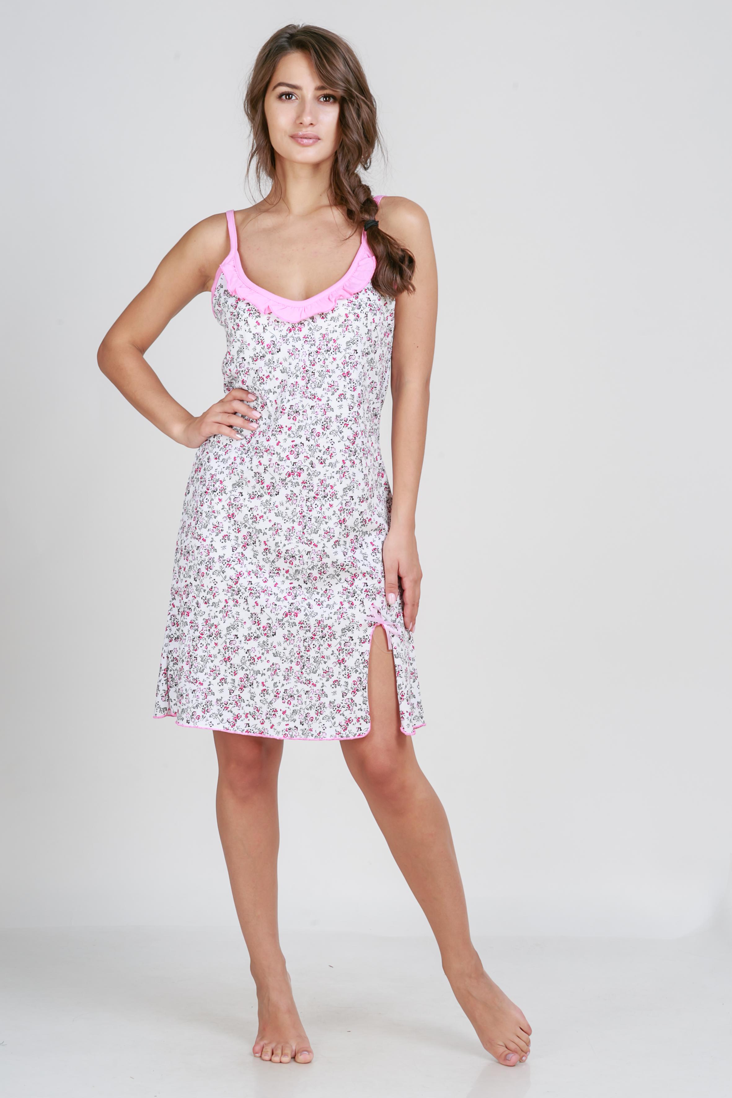 Ночные сорочки Pastilla Ночная сорочка Афродита Цвет: Молочная Вишня (M-L) сорочка avanua safire черный s m