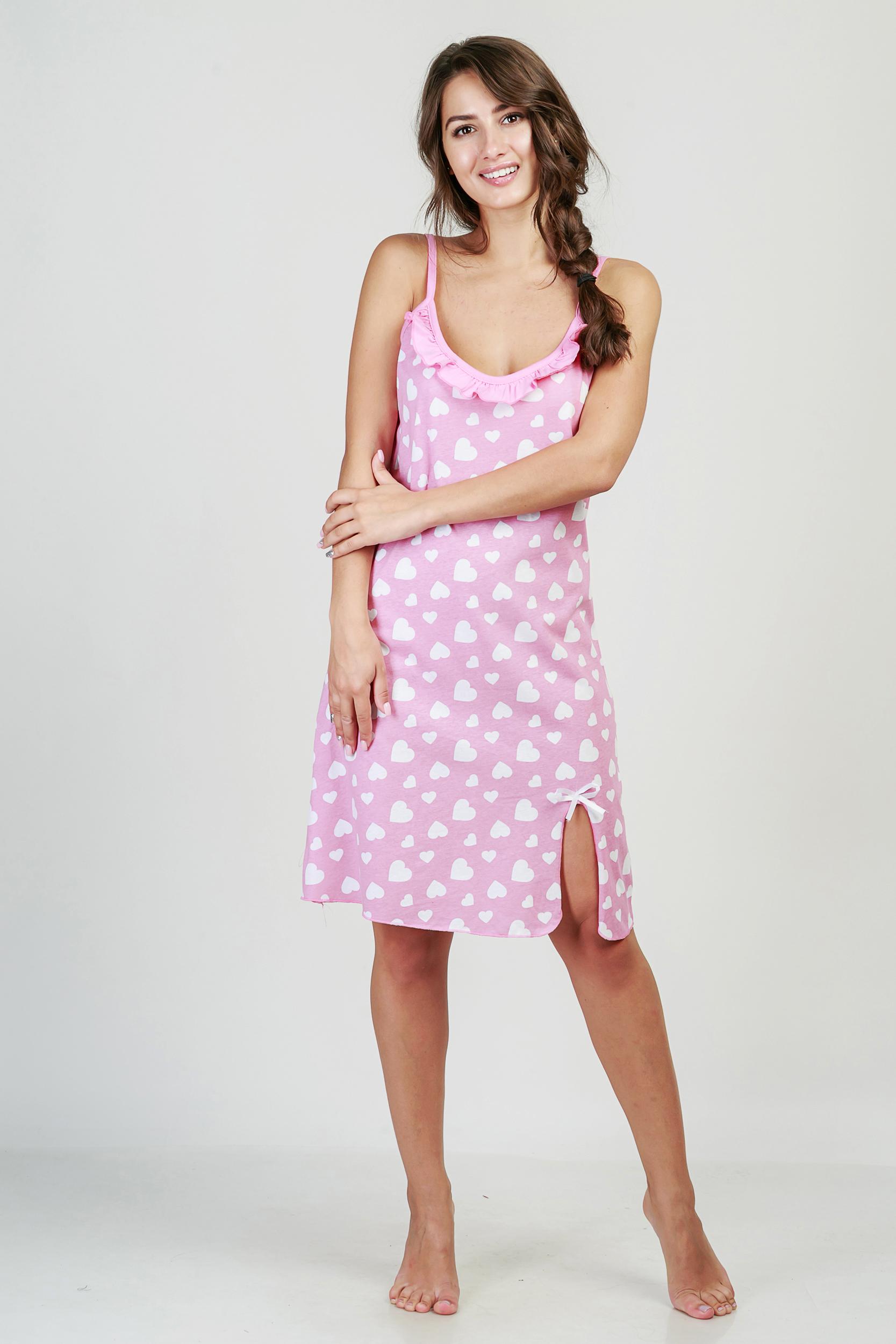 Ночные сорочки Pastilla Ночная сорочка Афродита Цвет: Брусничный (xxL) ночные сорочки linse ночная сорочка