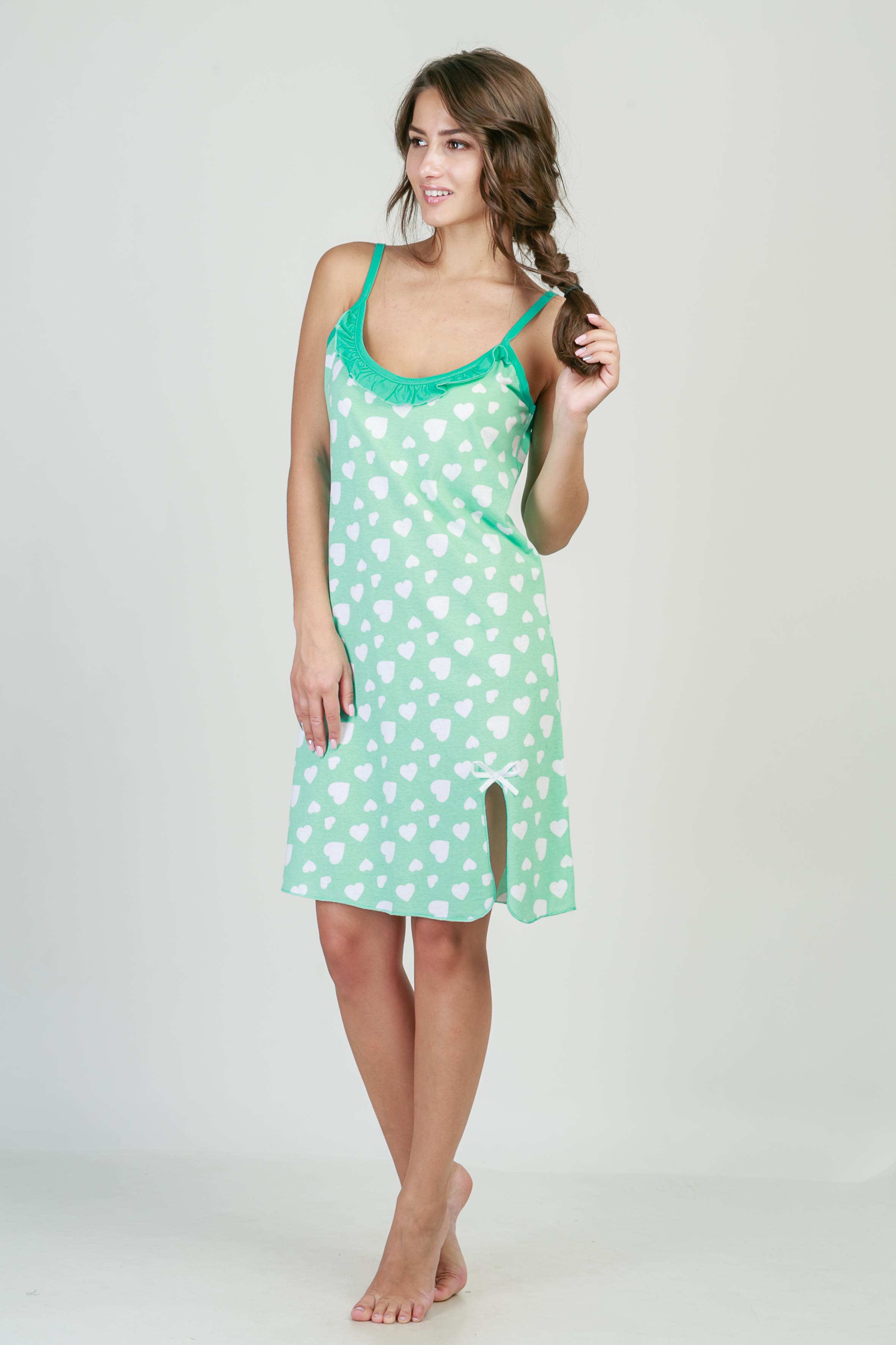 Ночные сорочки Pastilla Ночная сорочка Афродита Цвет: Ментоловый (M) ночные сорочки мамин дом ночная сорочка harmony