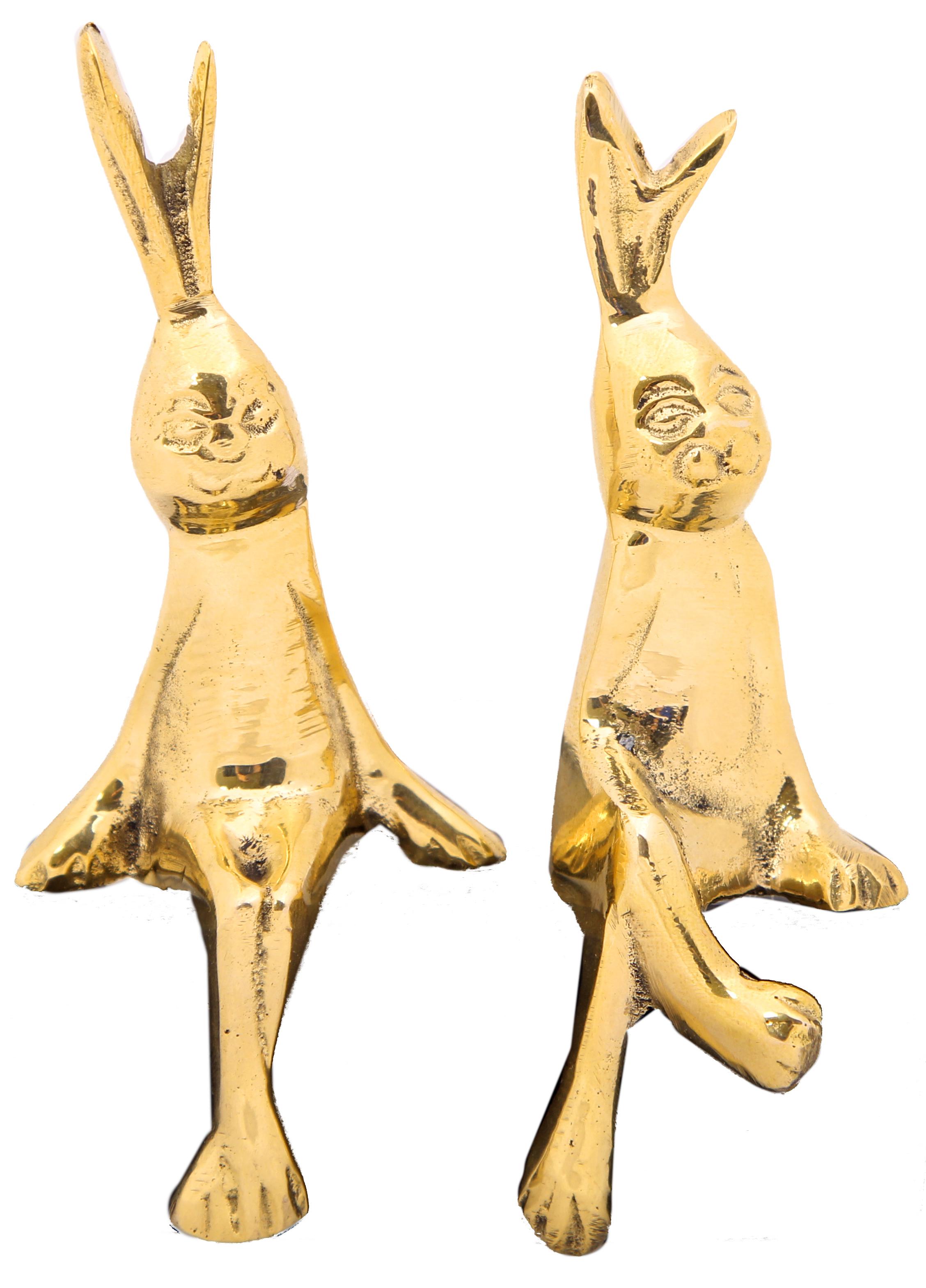 {} Ганг Статуэтка Зайцы (3х5х12 см) статуэтка петушок 12 см