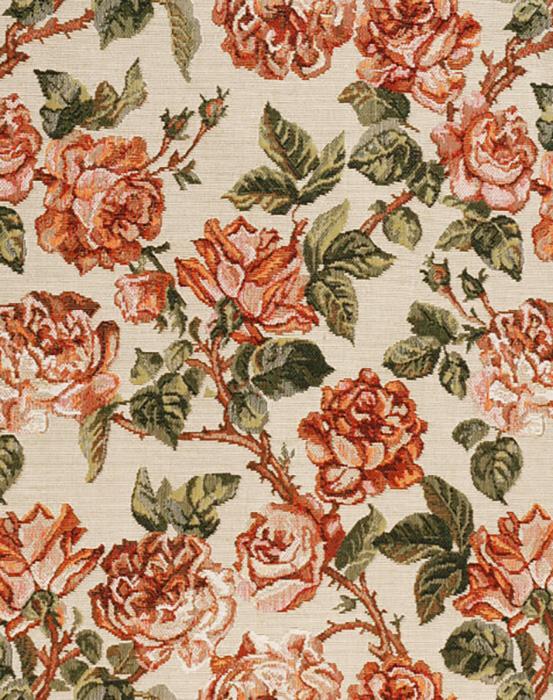 {} Les Gobelins Материал Гобелен Rose vintage