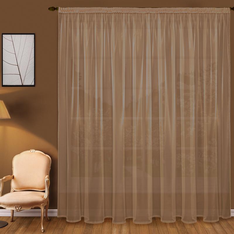Шторы Elegante Классические шторы Дымка Цвет: Коричневый шторы elegante классические шторы дымка цвет персиковый