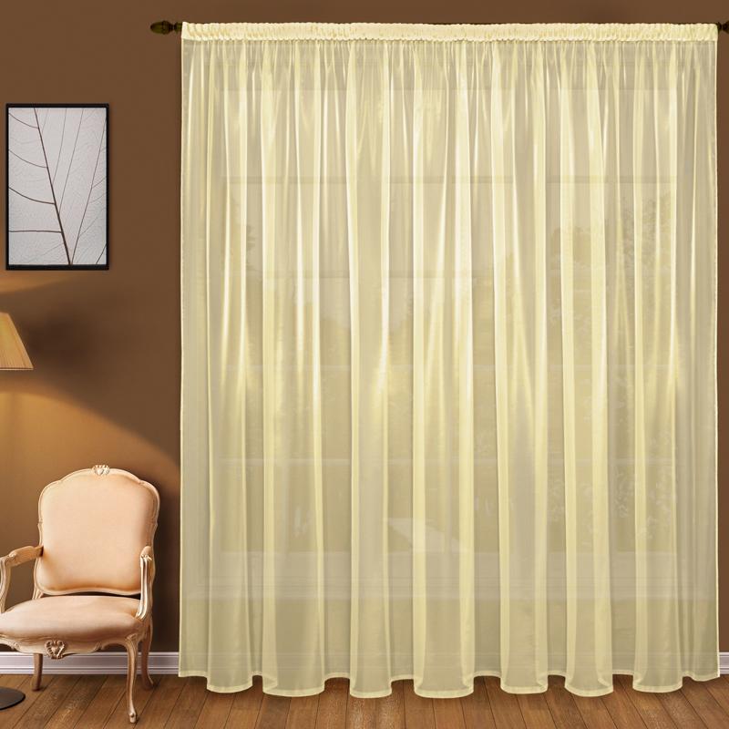 Шторы Elegante Классические шторы Дымка Цвет: Желтый шторы tac классические шторы winx цвет персиковый 200x265 см