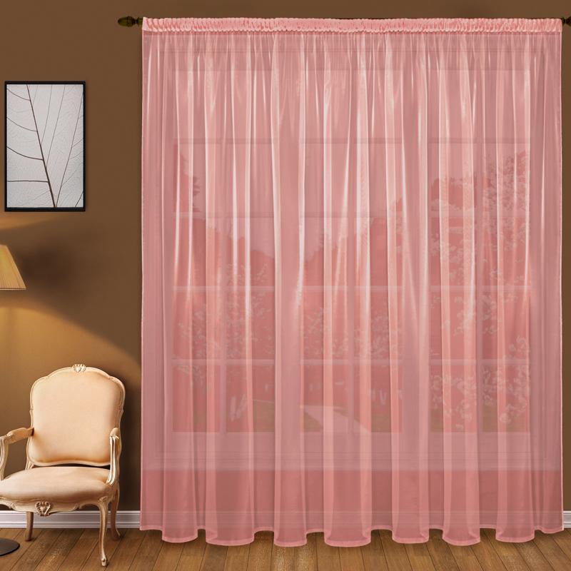Шторы Elegante Классические шторы Дымка Цвет: Коралловый шторы tac классические шторы winx цвет персиковый 200x265 см