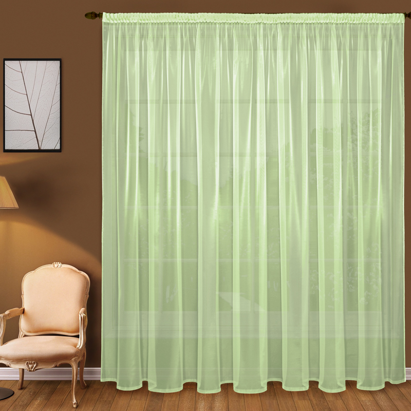 Шторы Elegante Классические шторы Дымка Цвет: Зеленый шторы tac классические шторы winx цвет персиковый 200x265 см