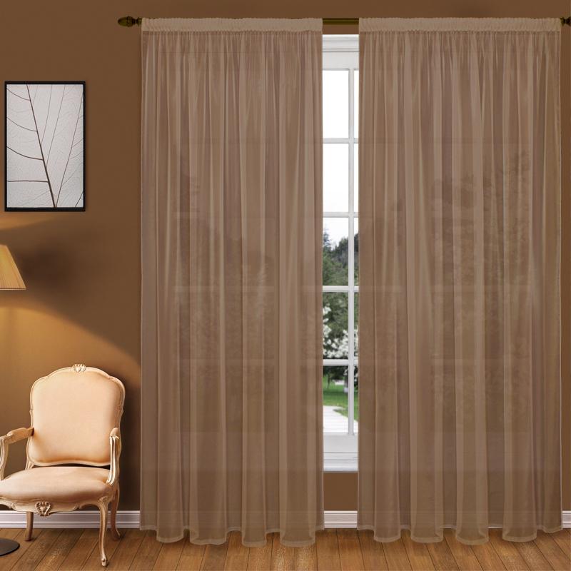 Шторы Elegante Классические шторы Туман Цвет: Коричневый шторы elegante классические шторы туман цвет персиковый