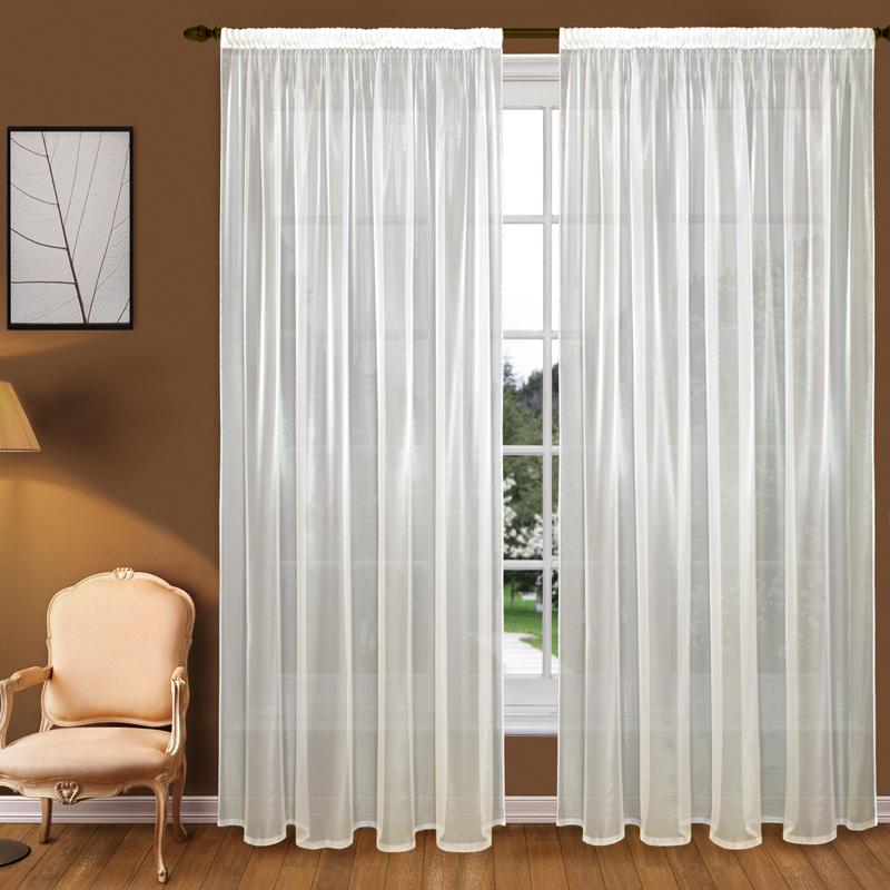 Шторы Elegante Классические шторы Туман Цвет: Слоновая Кость шторы elegante классические шторы туман цвет персиковый
